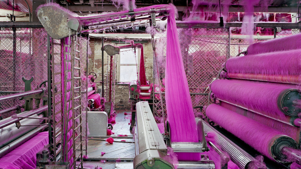 Wool carders, S & D Spinning Mill, Millbury, Mass. Photograph by Christopher Payne/Bonni Benrubi Gallery