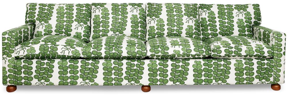 "Sofa, fabric covering ""Celotocaulis"", 1940s. © Svenskt Tenn, Stockholm, Sweden"