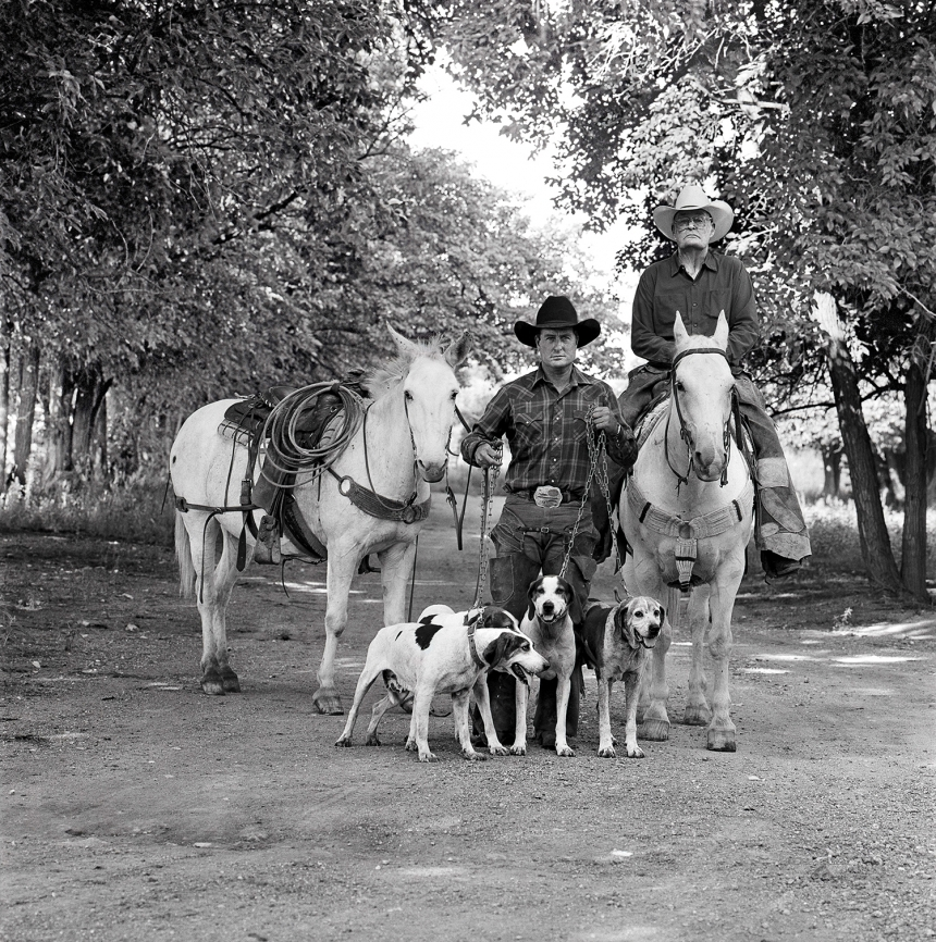 Cowboys Walking, J.R. Green Cattle Company, Shackelford County, Texas, May 13, 1997   (c) Copyright Laura Wilson