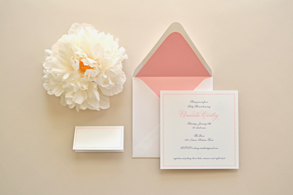 Custom Baby Shower Invitations and Place Cards by Simplicity Papers