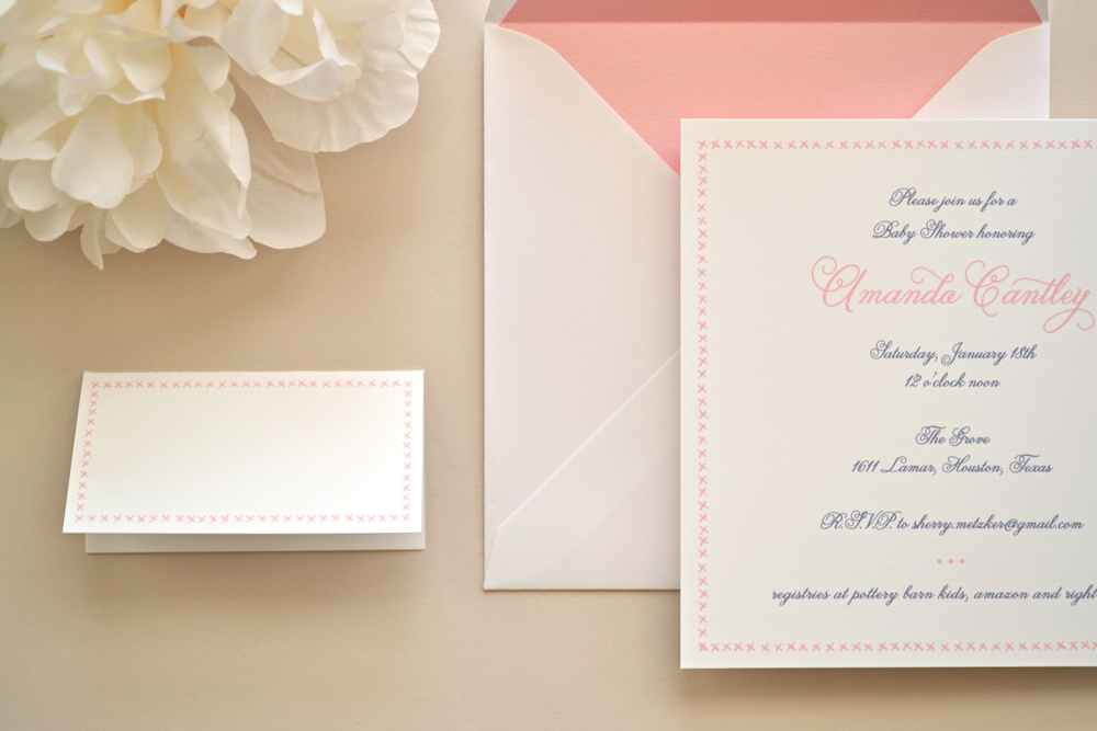 CUSTOM BABY SHOWER INVITATION Simplicity Papers Charming Paper Goods