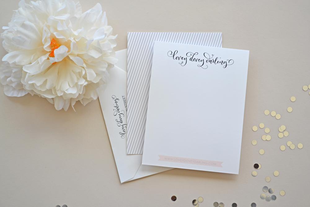 Lovey Dovey Darling Stationery by Simplicity Papers