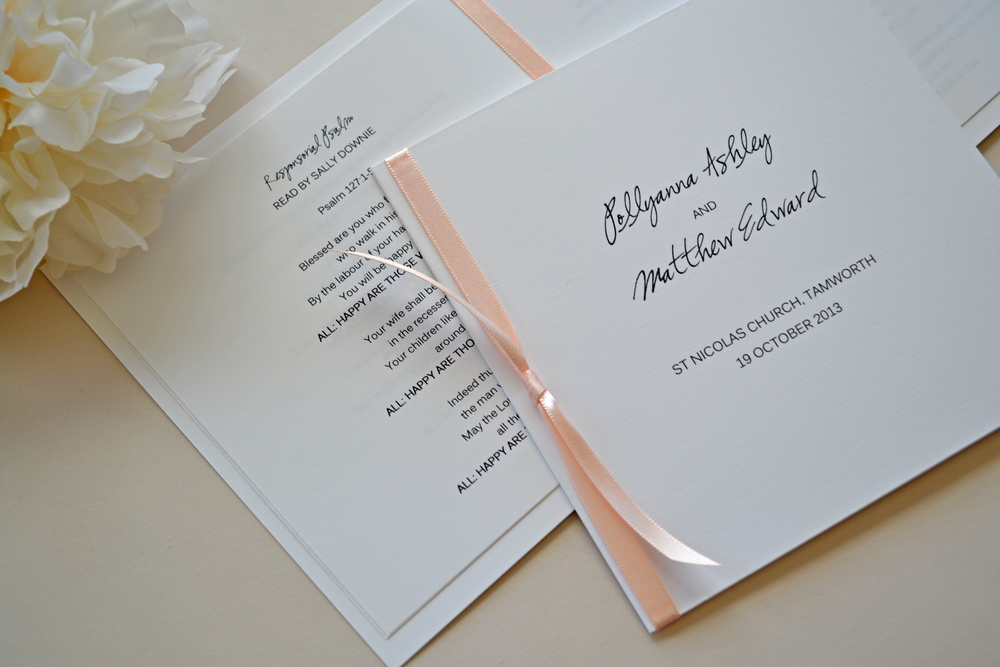 WEDDING PROGRAM BOOKLET — Simplicity Papers | Charming Paper Goods