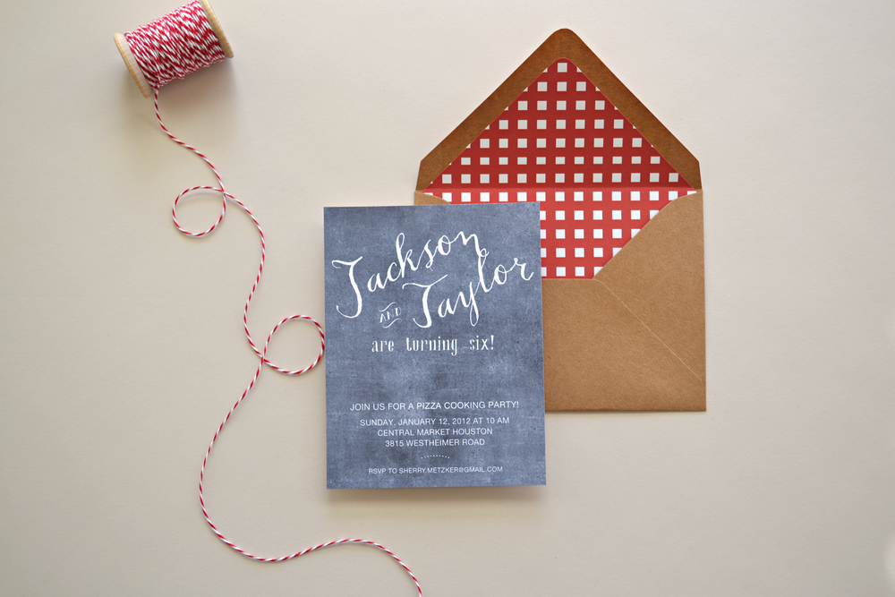 Pizza Cooking Party Invitation by Simplicity Papers