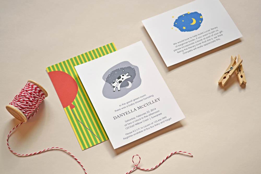 Goodnight Moon Inspired Invitation by Simplicity Papers