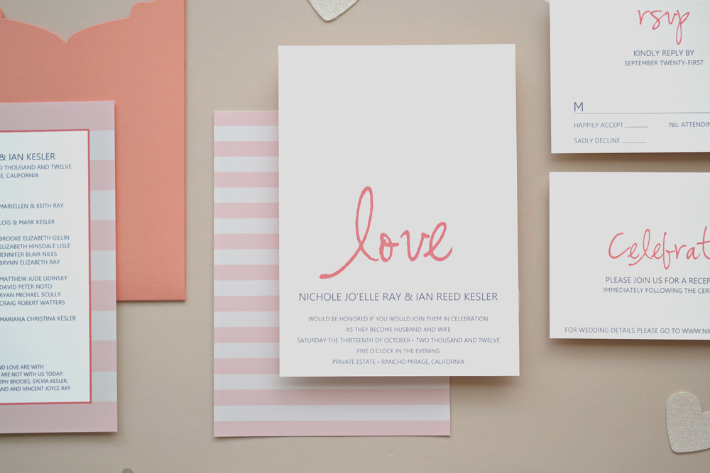 Simply in Love Wedding Invitation Suite by Simplicity Papers