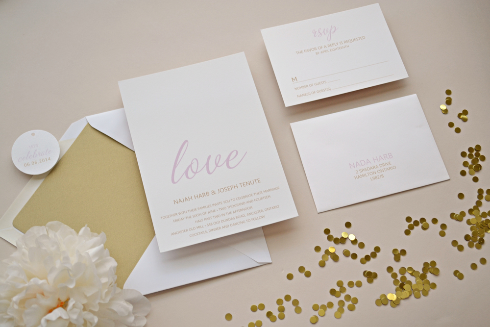 Custom Wedding Invitation Suite by Simplicity Papers