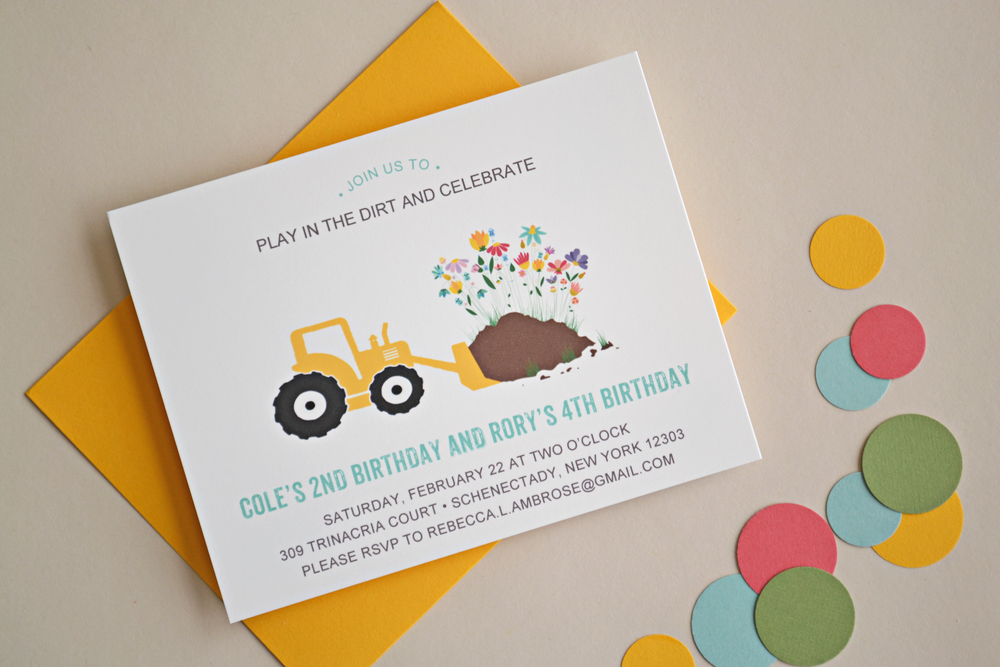Playing in the Dirt Co-Ed Birthday Invitation by Simplicity Papers