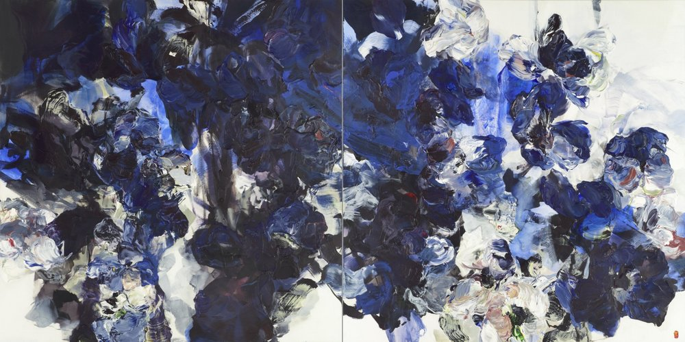 The Laws Of Attraction diptych 2x66x66 2017