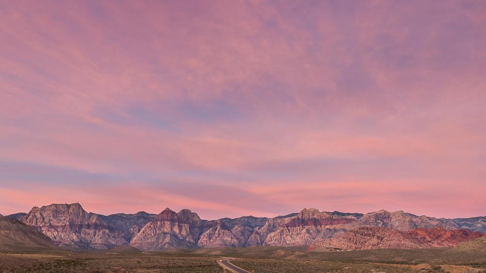 Early morning at Red Rock National Conservation Area. Only a few miles west of the Las Vegas city limits.