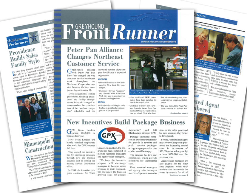 Greyhound Front Runner Newsletter