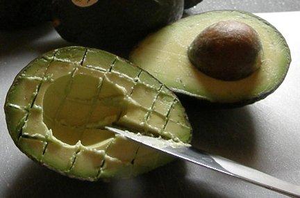 scored avocado