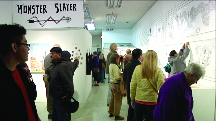 Opening night of the        Monster Slayer  exhibit at ART123 in Gallup, NM.   December 8, 2012