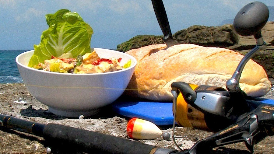 Smoked fish with Caesar Salad - click for Paul's recipe