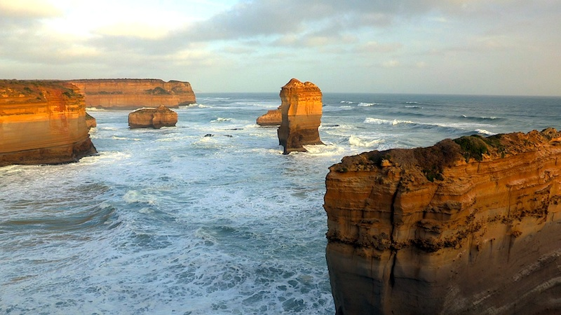 The Great Ocean Road is a spectacular stretch of coastline