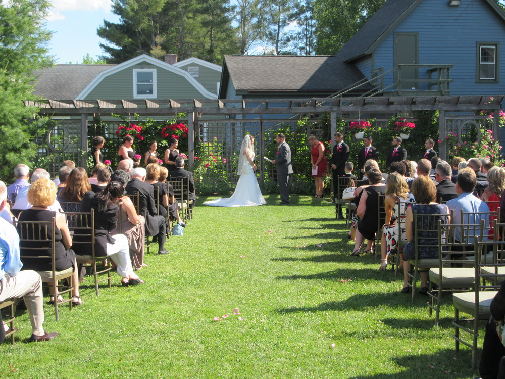 Our outdoor ceremony space adjacent to Crissey Farm Catering.