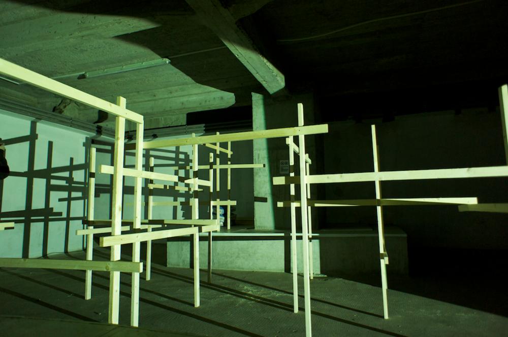 Die unbeleuchtete Struktur