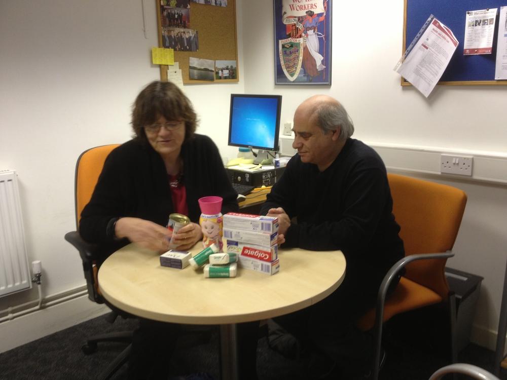 Fiona Mactaggart MP with Tony Osbourne