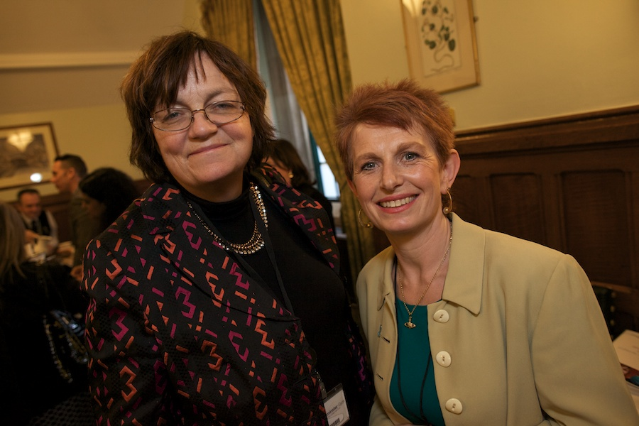 Fiona Mactaggart MP with Gilda Witte, Chief Executive of Ovarian Cancer Action.