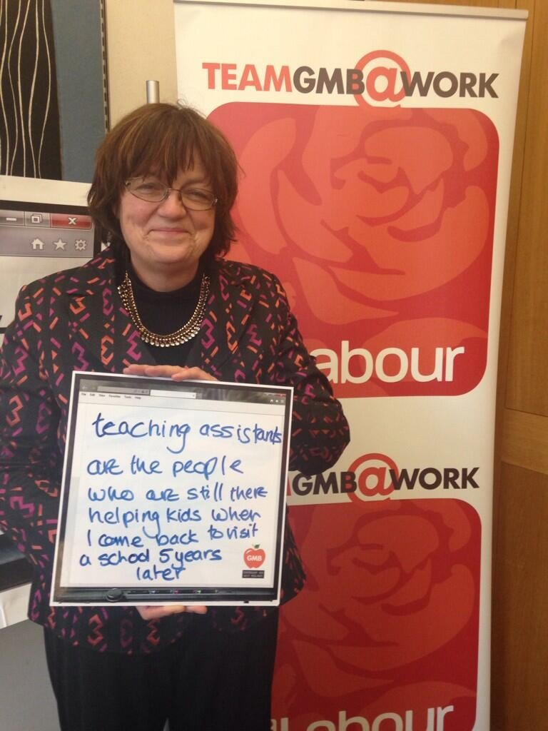 Fiona Mactaggart MP at the GMB that took place in Parliament.