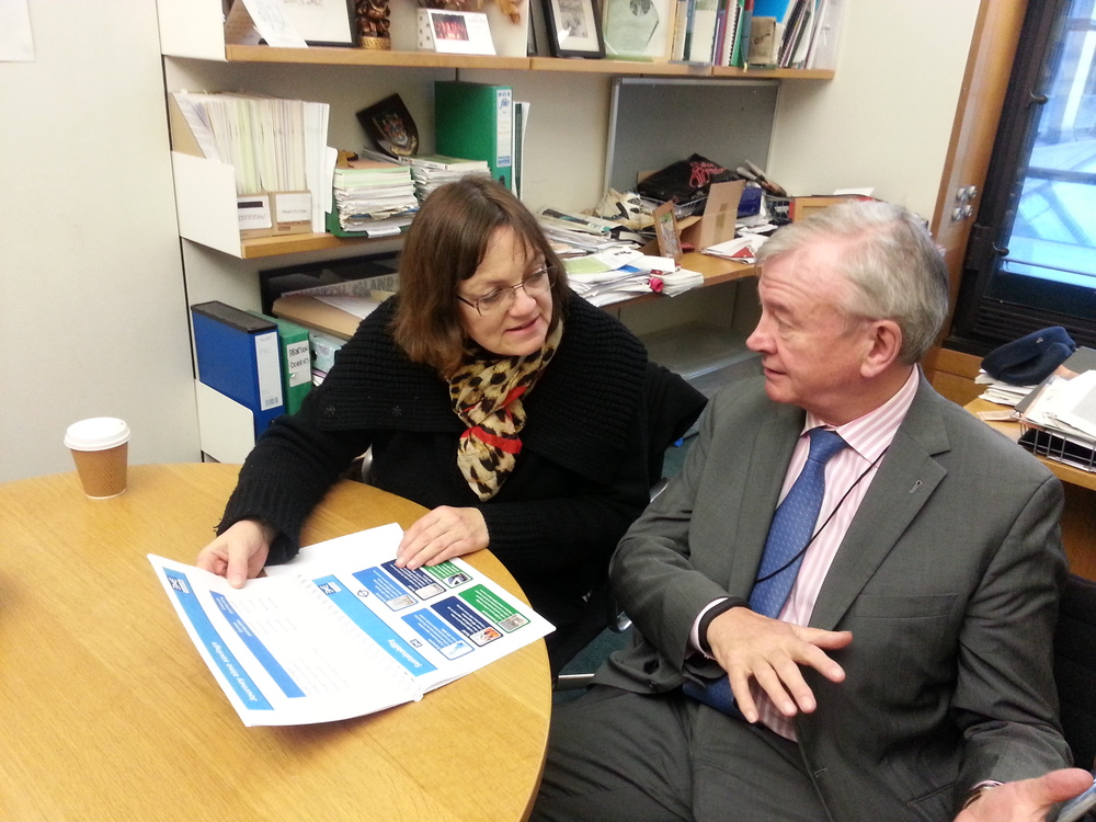 Fiona Mactaggart MP with Crossrail Chairman, Terry Morgan CBE.