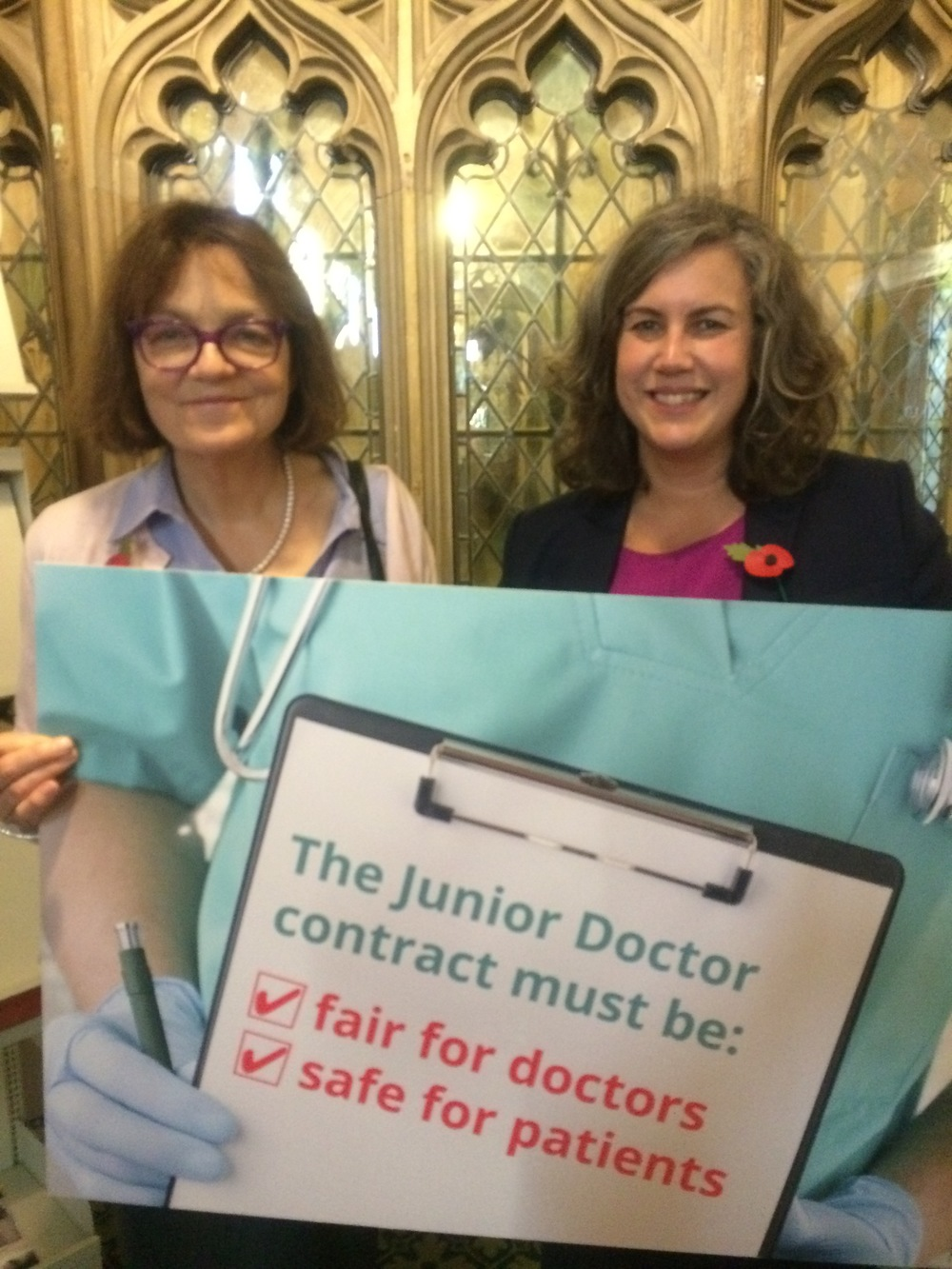 Fiona with Shadow Secretary of State for Health, Heidi Alexander
