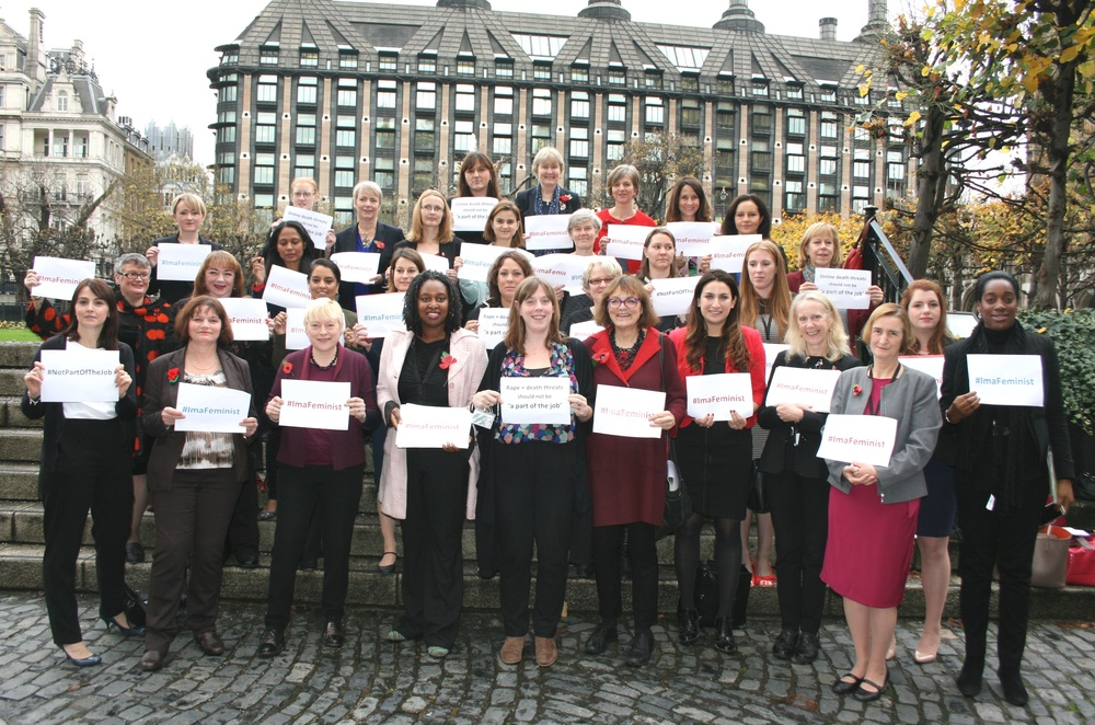 Fiona Mactaggart with Jess Phillips MP (front, centre) and other Labour women MPs