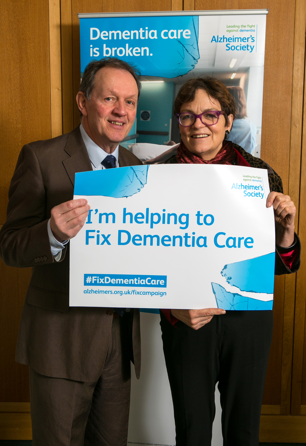 Fiona with Alzheimer's Society celebrity ambassador Kevin Whately