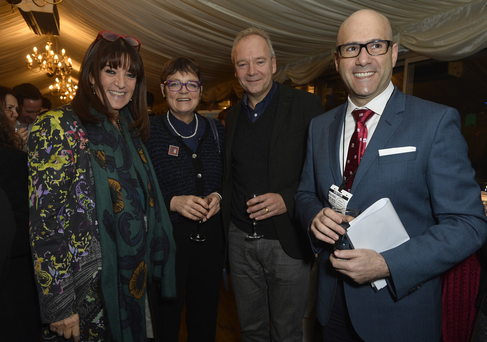 Baroness Gail Rebuck DBE (chair of Quick Reads), Fiona Mactaggart MP, John O'Farrell (Quick Reads author) and Blas Maquivar (President of Mars Chocolate UK)