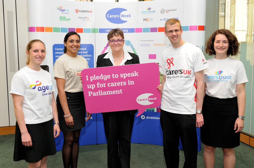 Fiona with representatives of different charities