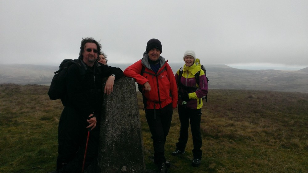 All smiles at the first trig point.