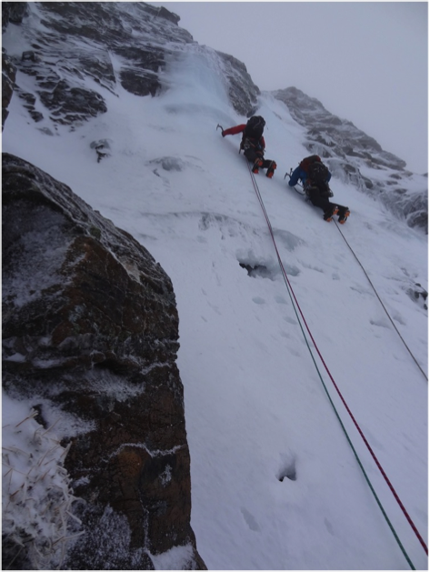 Martin and Ian heading up the ice pitch