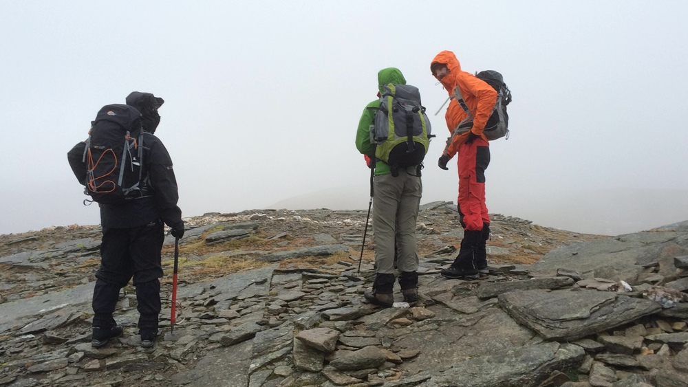Time to get the waterproofs and hard shell jackets on as the rain closes in