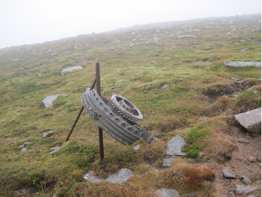 Aircraft wreckage from a crash in 1956
