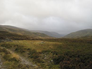 Back in the glen – below cloud level