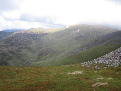 We didn't see this on our ascent – looking back towards Glas Maol as the clouds lifted