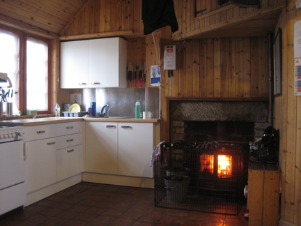 the cosy kitchen area