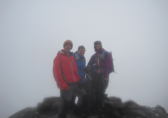 Visibility on the summit on Sgurr an Airgid was 'poor'- no view