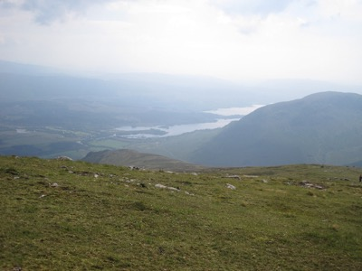The view from the ridge – looking over Stob Maol towards the head of Loch Awe