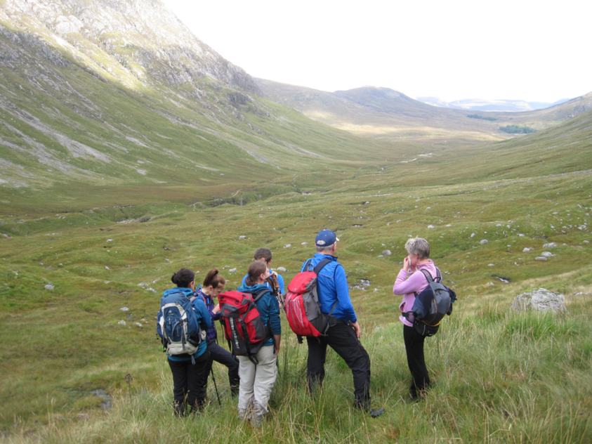 In the Lairig Gartain – about to ascend into the corrie