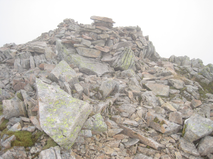 The summit cairn on Stob na Broige