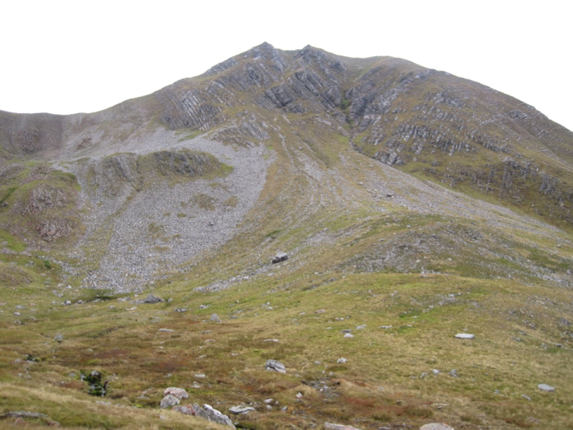 Looking back to Stob Coire Easain from the corrie