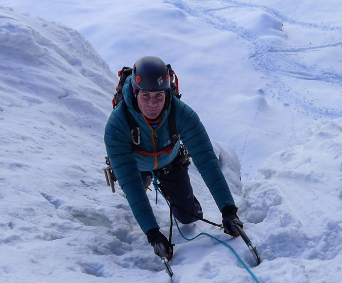 Topping out of the first pitch of Patri
