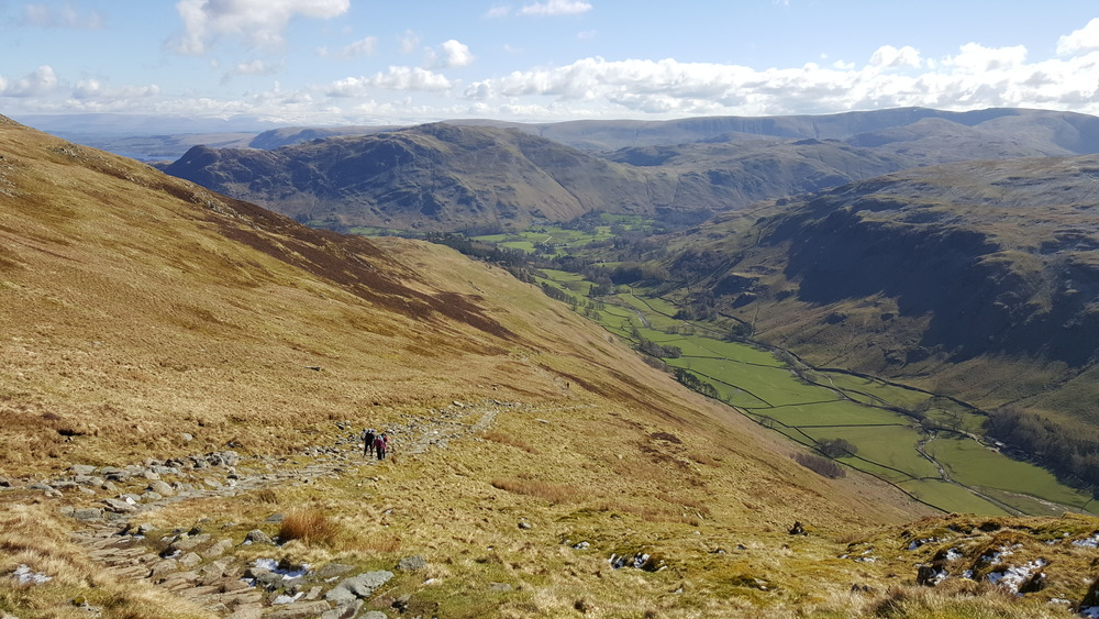 Grisedale looking back to Patterdale and Place Fell
