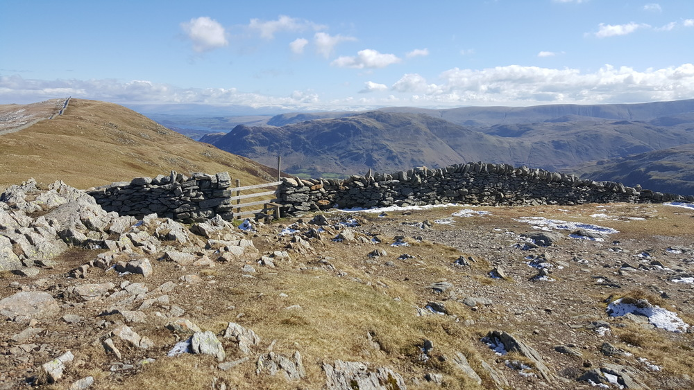 The Hole in the Wall looking back towards Grisedale and Place Fell