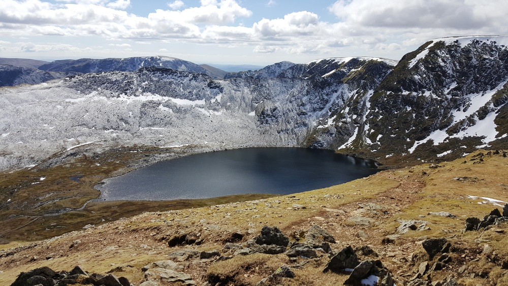 Striding Edge Red Tarn and Helvellyn