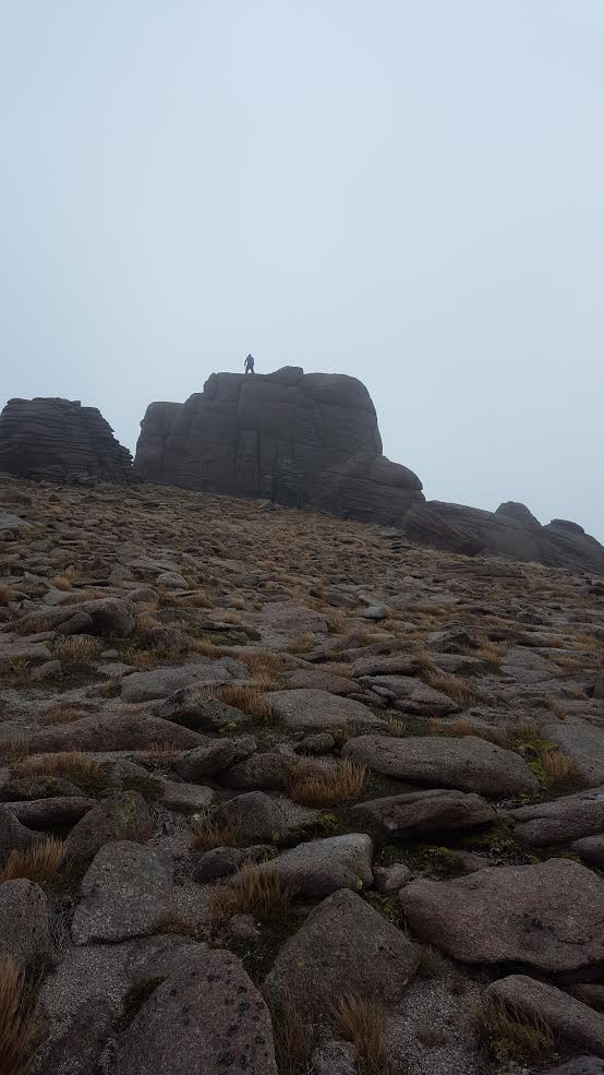 Beinn Mheadhoin summit stone