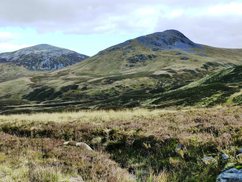 Carn an Tuirc on the right with Carn Dubh on the left