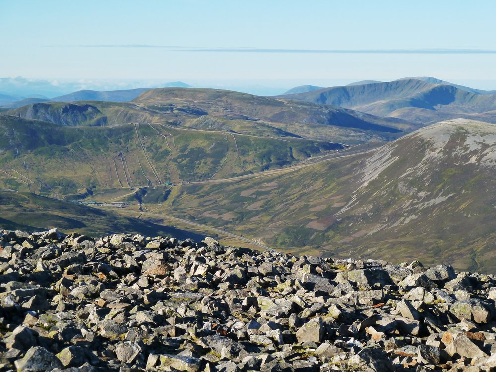 The Cairnwell Pass from Carn an Tuirc