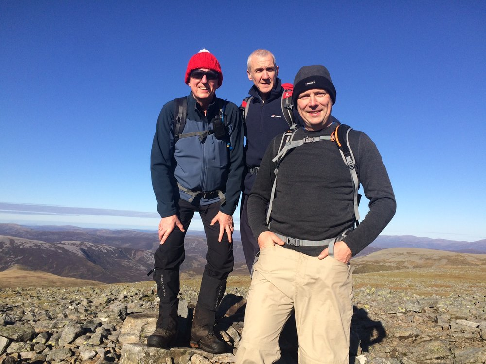 On the summit of Cairn of Claise